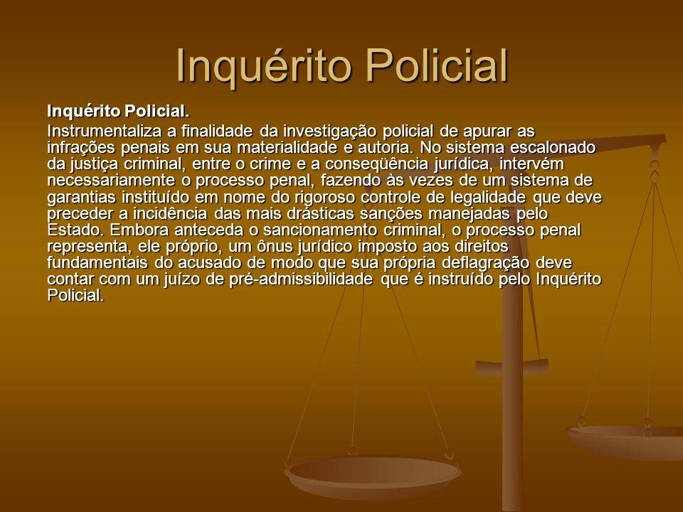 Inquérito Policial Inquérito Policial.