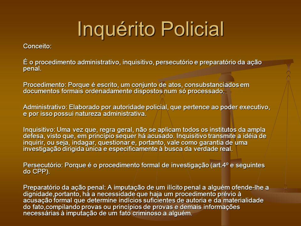 Inquérito Policial Conceito: