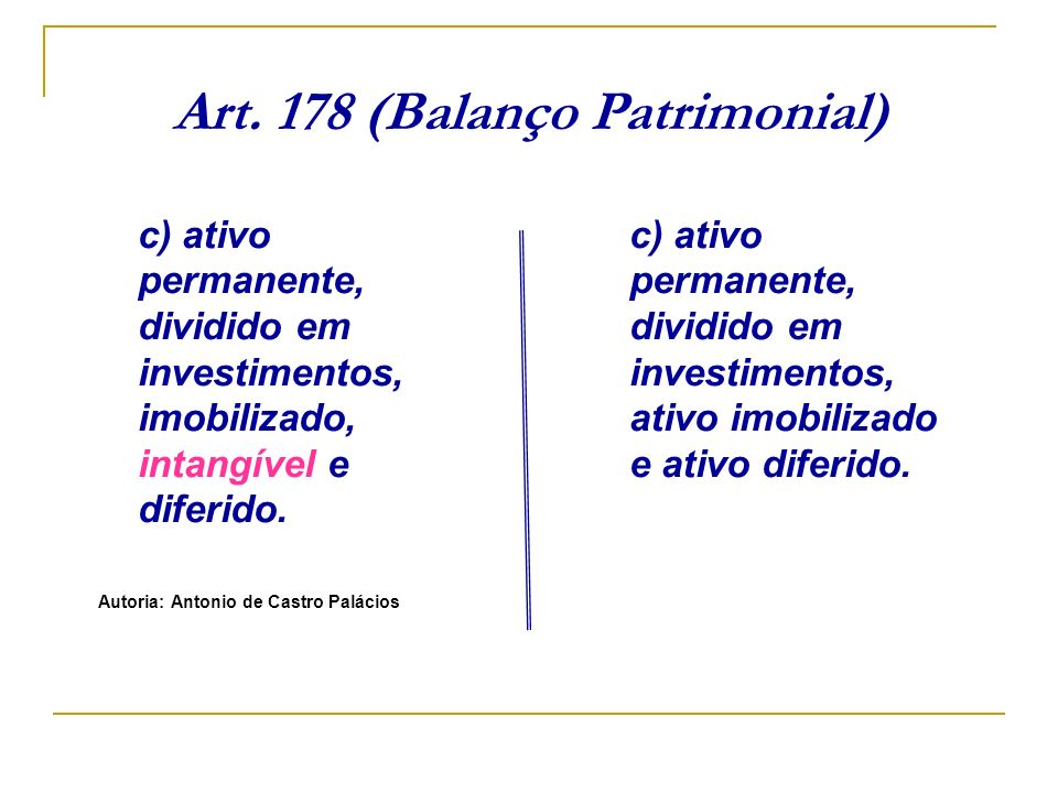 Art. 178 (Balanço Patrimonial)