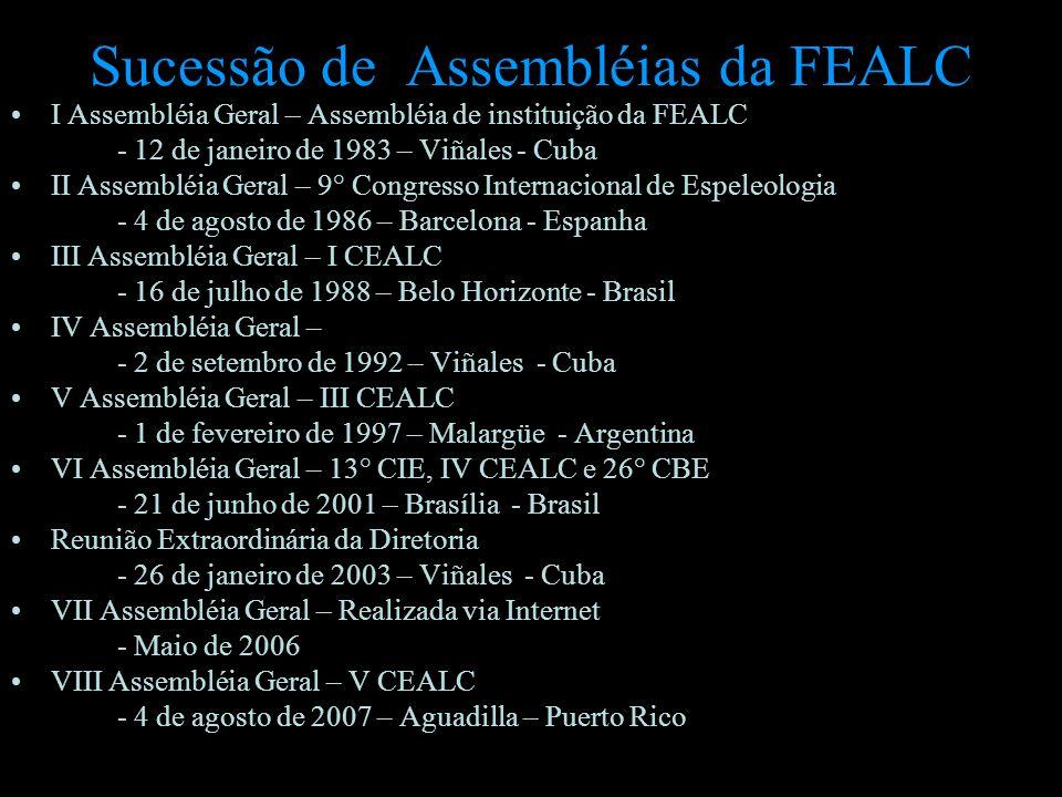 Sucessão de Assembléias da FEALC
