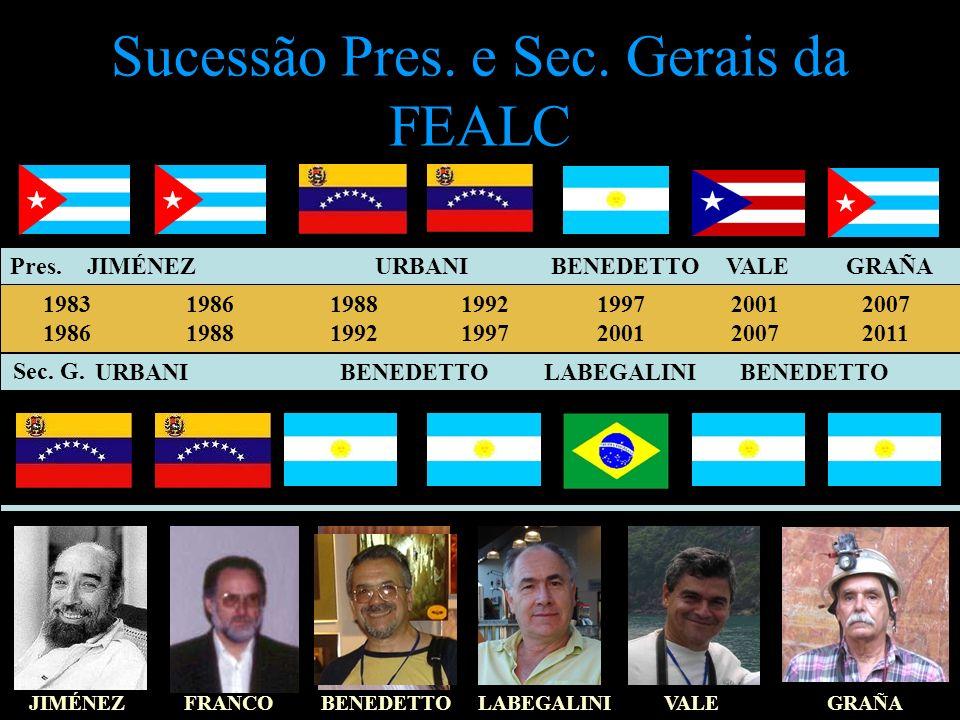 Sucessão Pres. e Sec. Gerais da FEALC