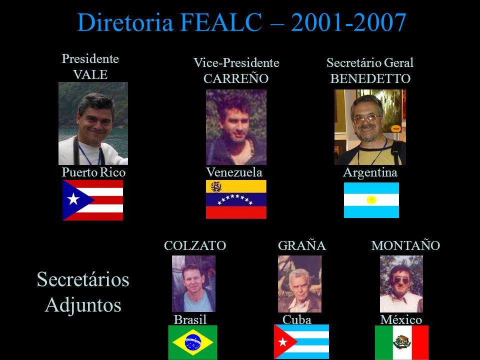 Diretoria FEALC – 2001-2007 Secretários Adjuntos Presidente VALE