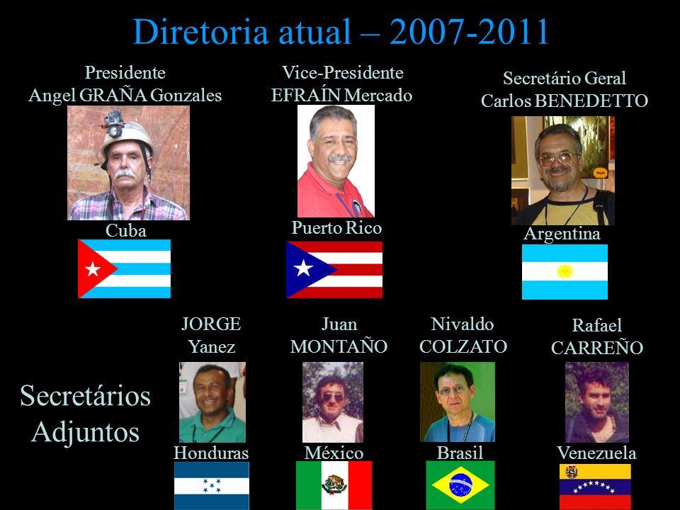 Diretoria atual – 2007-2011 Secretários Adjuntos Presidente