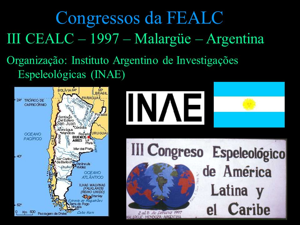 Congressos da FEALC III CEALC – 1997 – Malargüe – Argentina