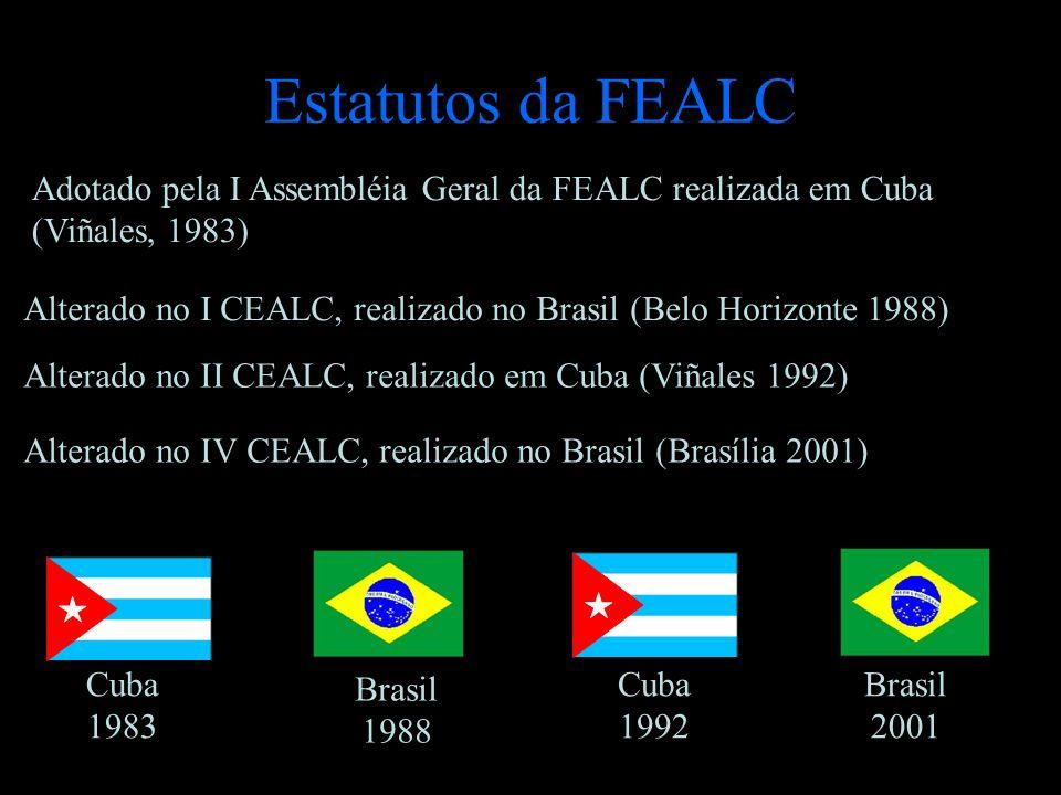 Estatutos da FEALC Adotado pela I Assembléia Geral da FEALC realizada em Cuba (Viñales, 1983)