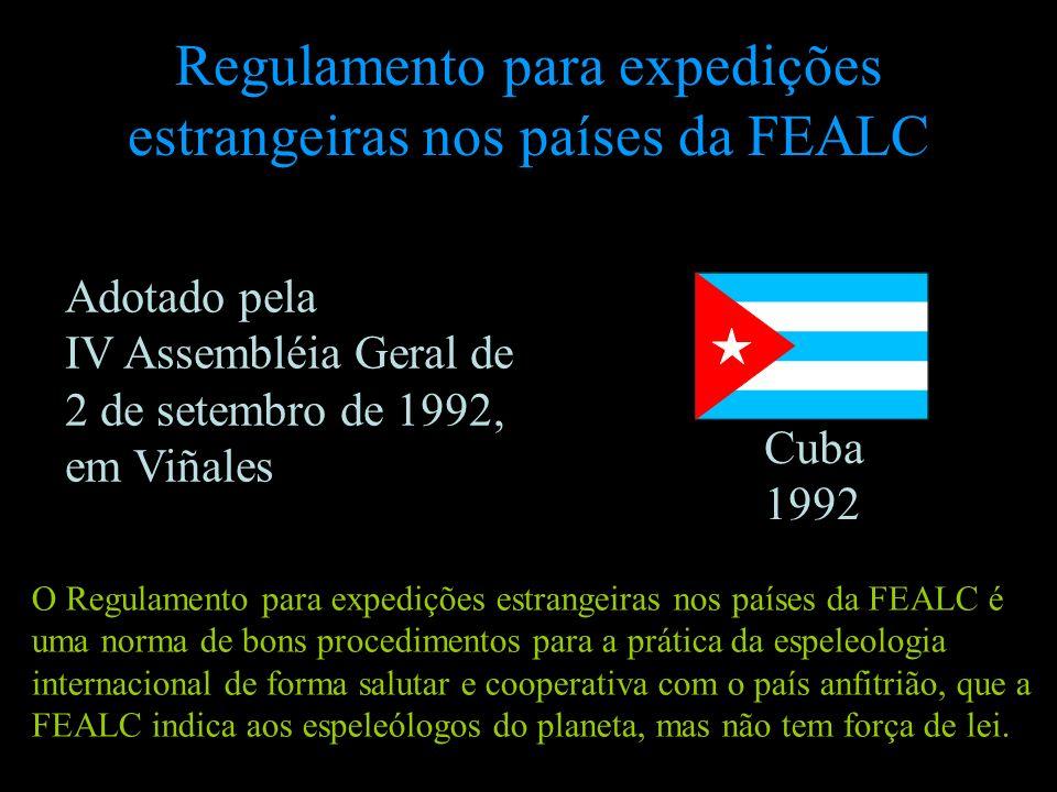 Regulamento para expedições estrangeiras nos países da FEALC