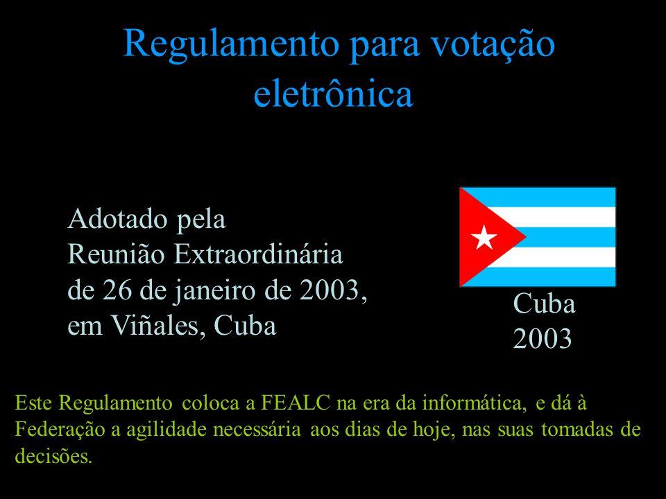 Regulamento para votação eletrônica