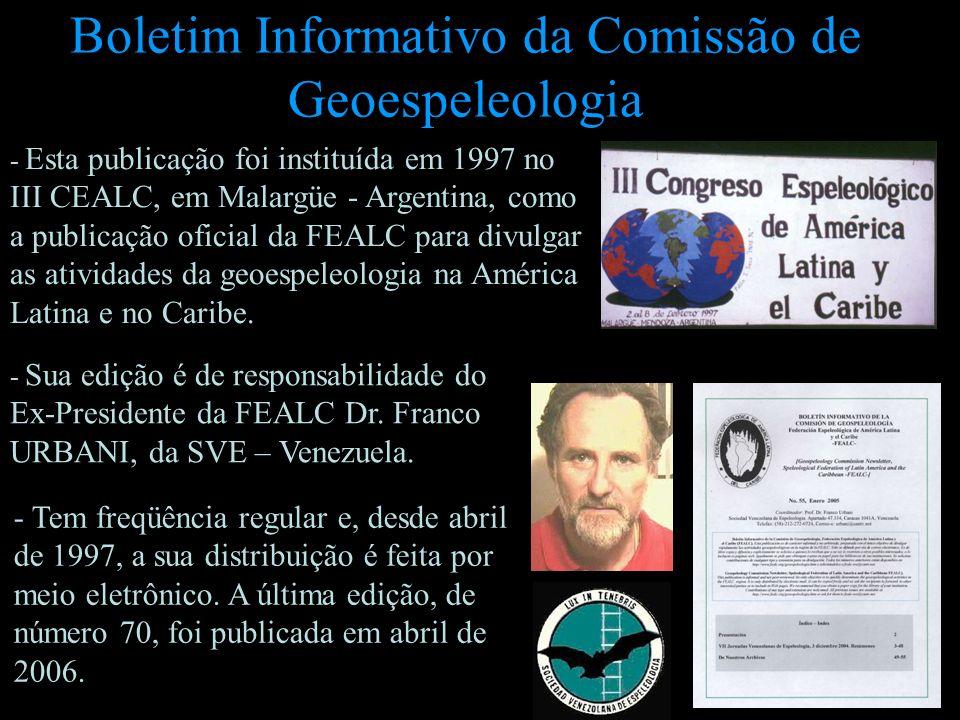 Boletim Informativo da Comissão de Geoespeleologia