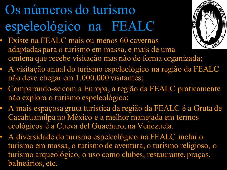 Os números do turismo espeleológico na FEALC