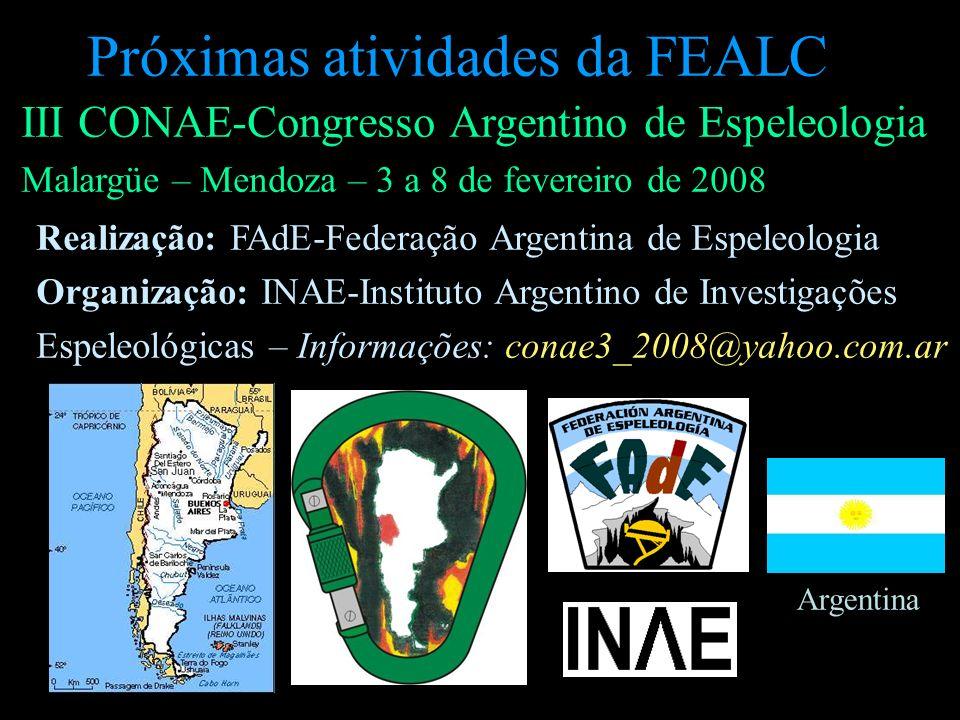 Próximas atividades da FEALC