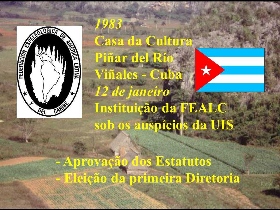 1983 Casa da Cultura Piñar del Río Viñales - Cuba 12 de janeiro Instituição da FEALC sob os auspícios da UIS