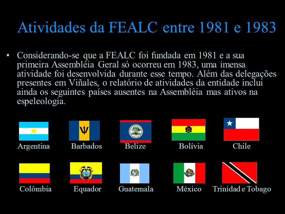 Atividades da FEALC entre 1981 e 1983