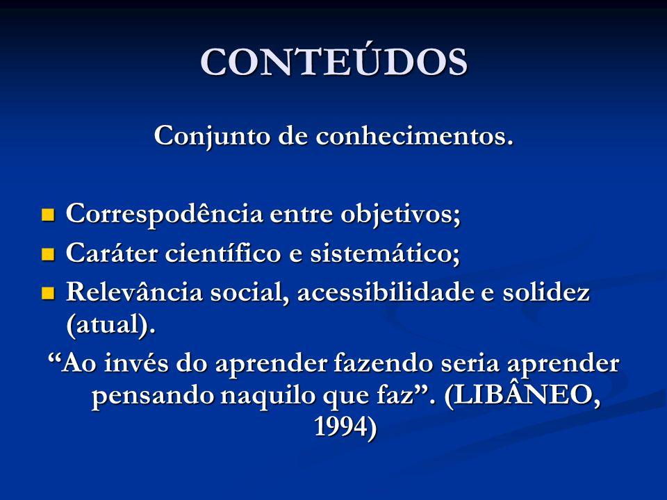 Conjunto de conhecimentos.