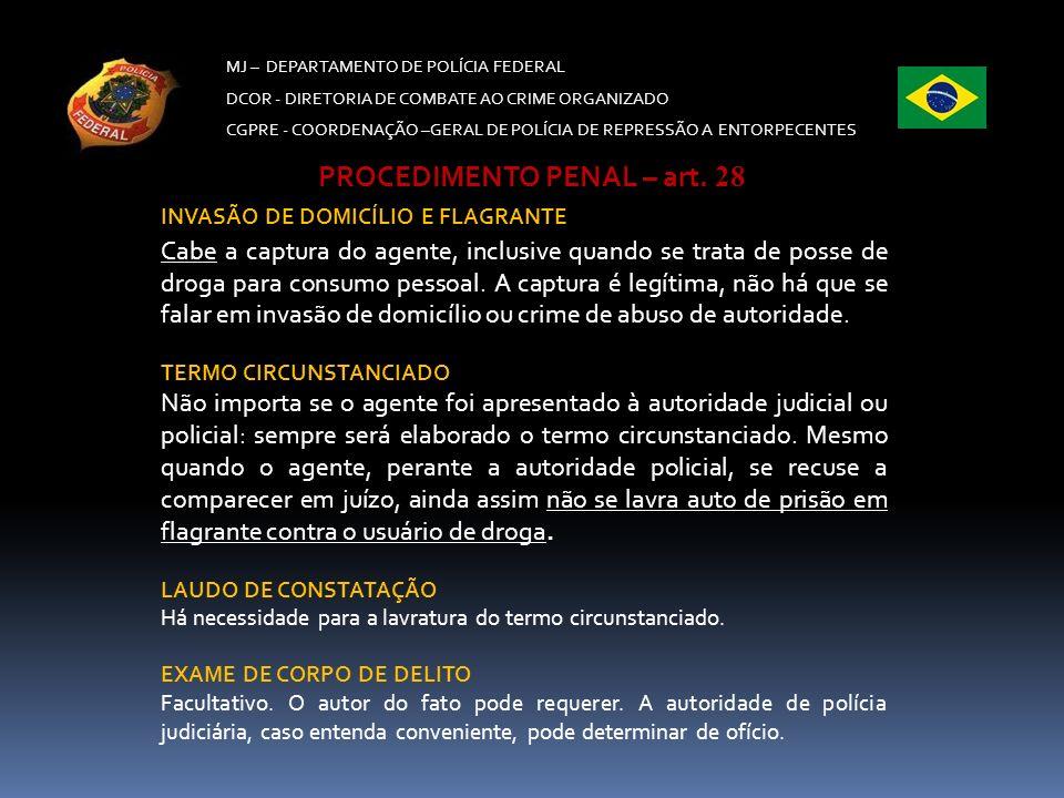 PROCEDIMENTO PENAL – art. 28