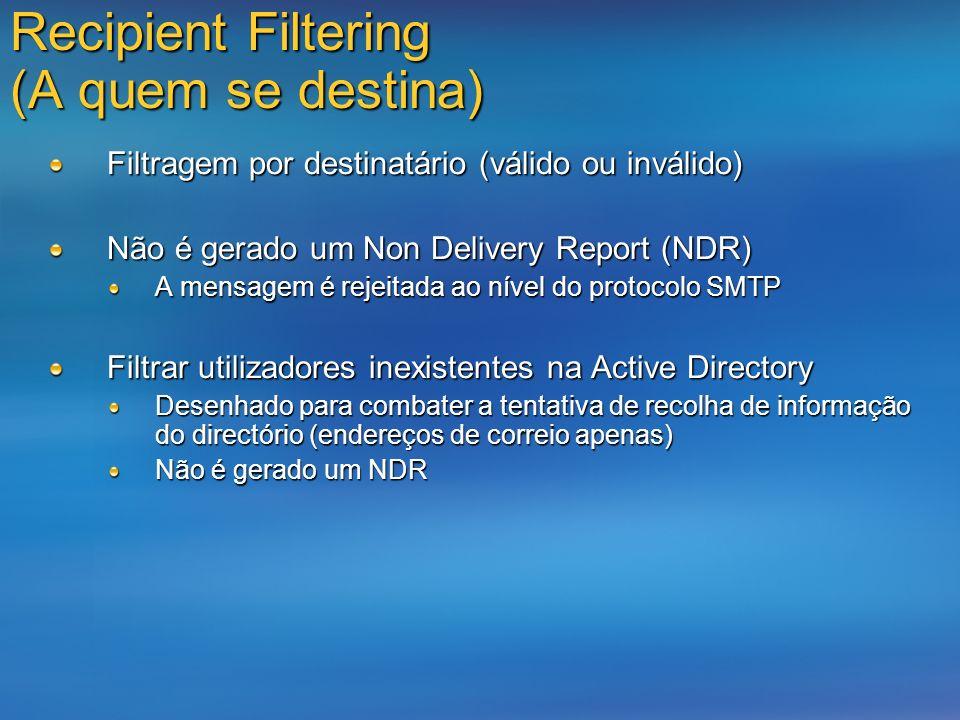 Recipient Filtering (A quem se destina)