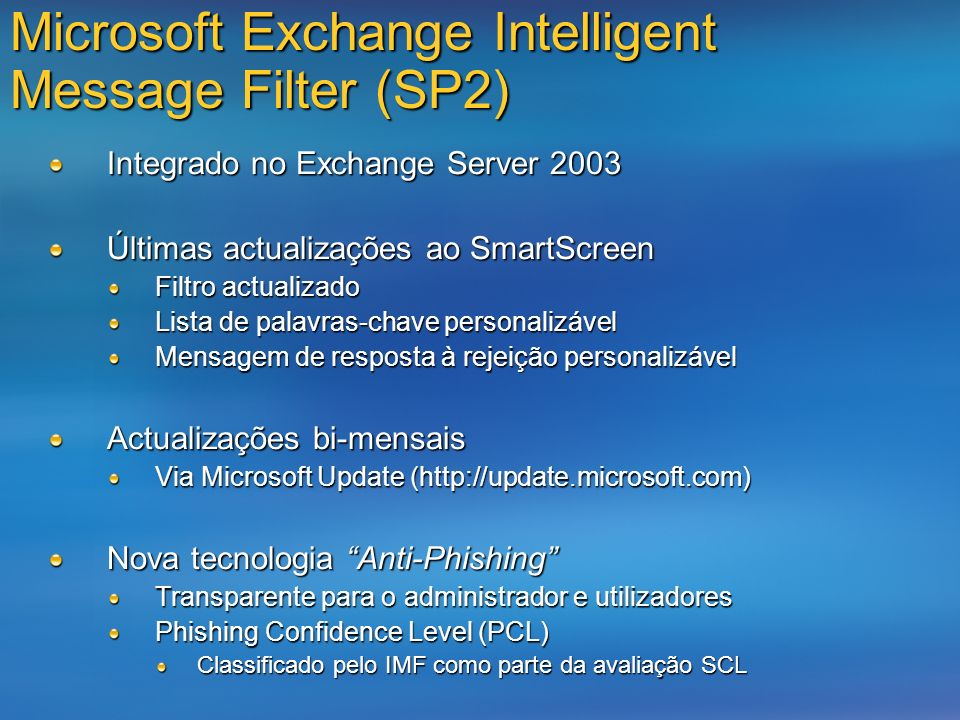 Microsoft Exchange Intelligent Message Filter (SP2)