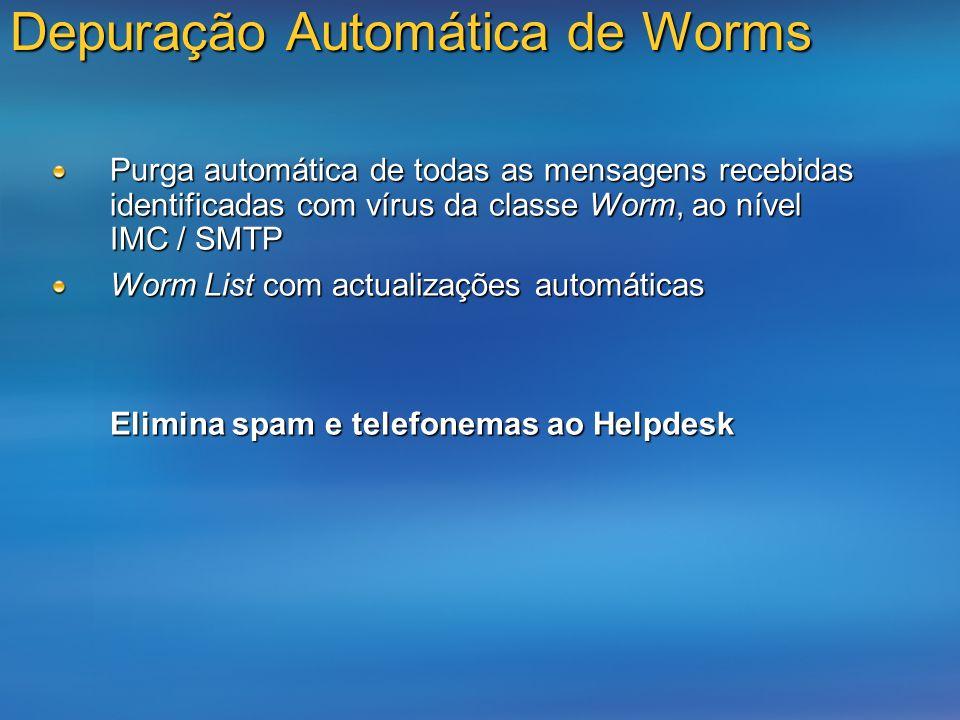 Depuração Automática de Worms