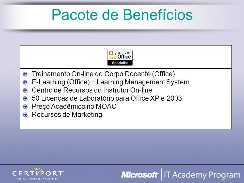 Pacote de Benefícios Treinamento On-line do Corpo Docente (Office)