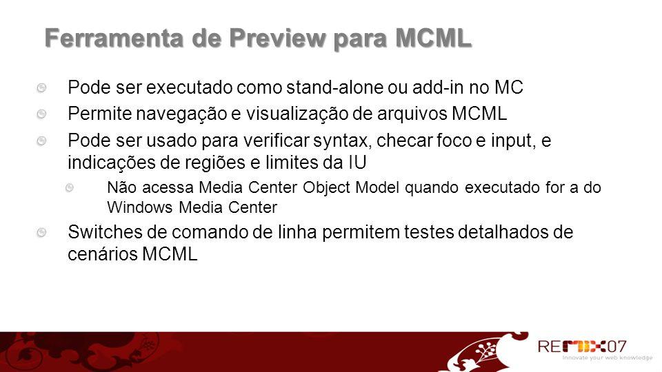 Ferramenta de Preview para MCML