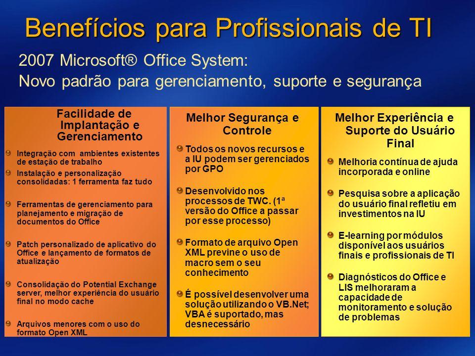 Benefícios para Profissionais de TI