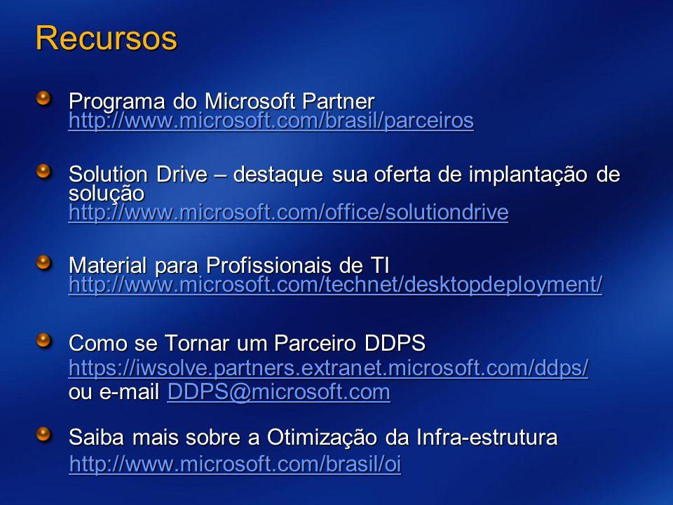 3/26/2017 7:56 AM Recursos. Programa do Microsoft Partner http://www.microsoft.com/brasil/parceiros.