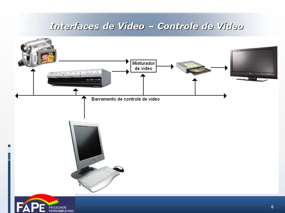 Interfaces de Vídeo – Controle de Vídeo