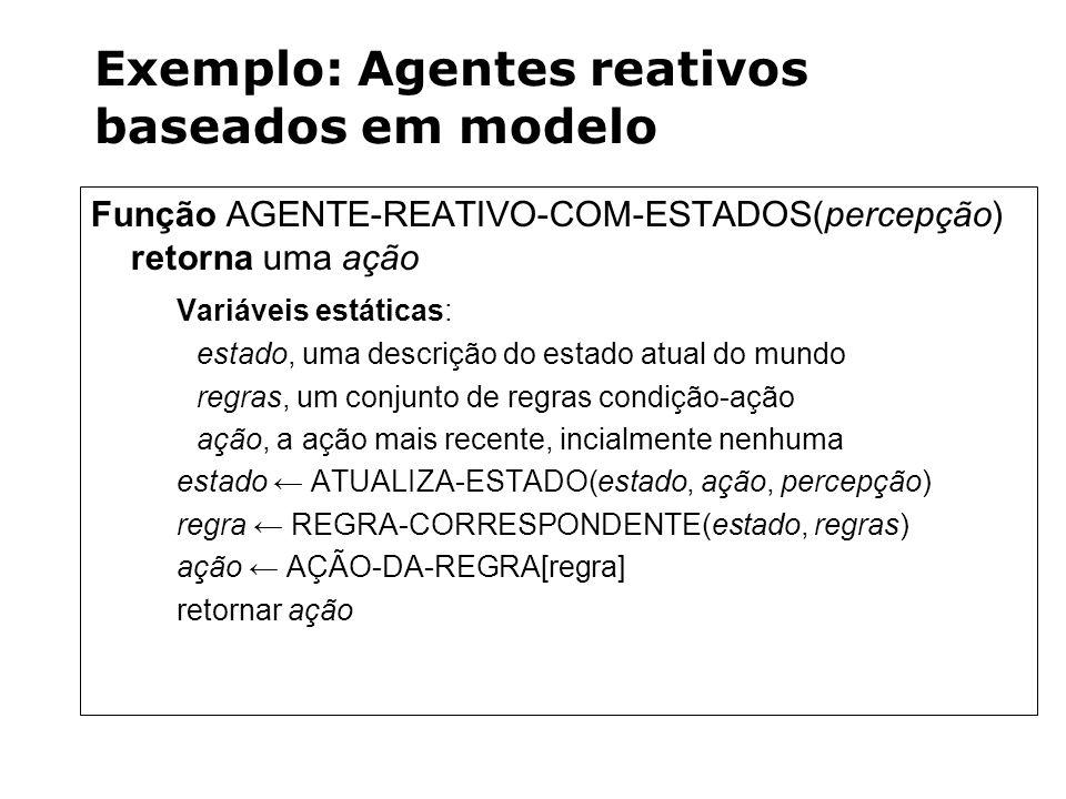 Exemplo: Agentes reativos baseados em modelo