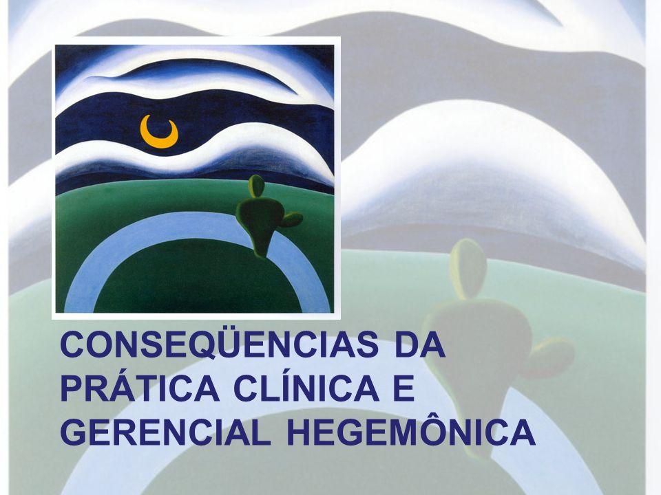 CONSEQÜENCIAS DA PRÁTICA CLÍNICA E GERENCIAL HEGEMÔNICA