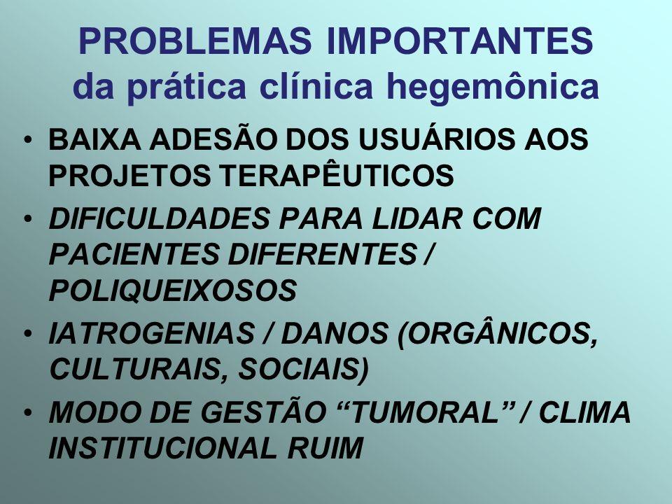 PROBLEMAS IMPORTANTES da prática clínica hegemônica