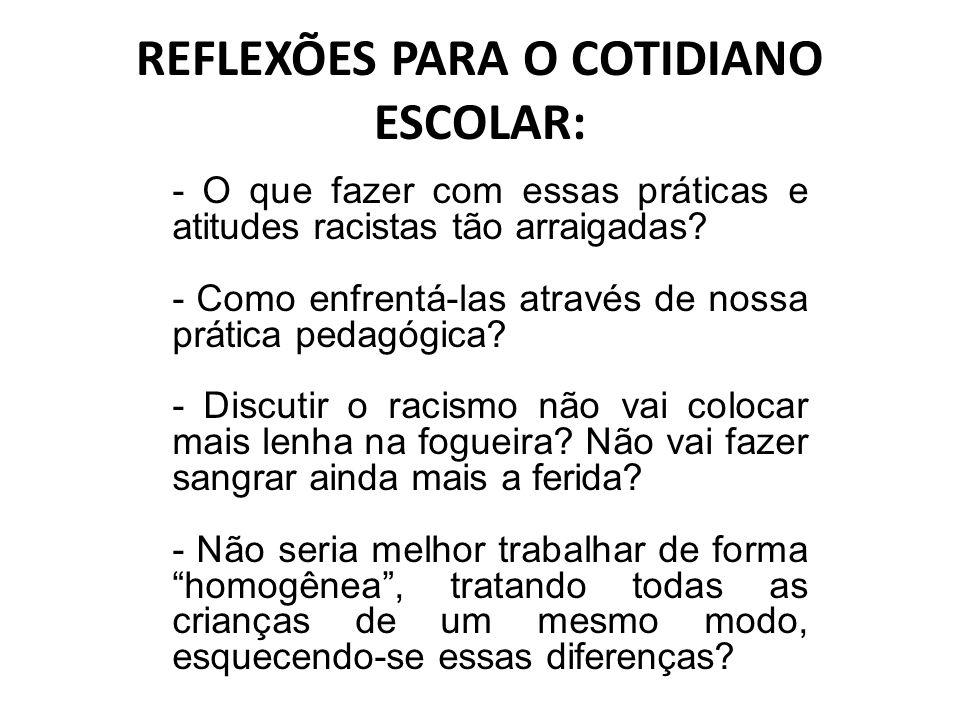 REFLEXÕES PARA O COTIDIANO ESCOLAR: