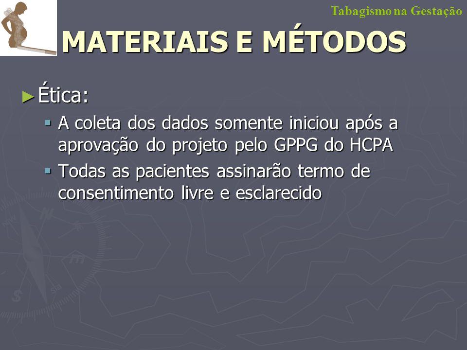 MATERIAIS E MÉTODOS Ética: