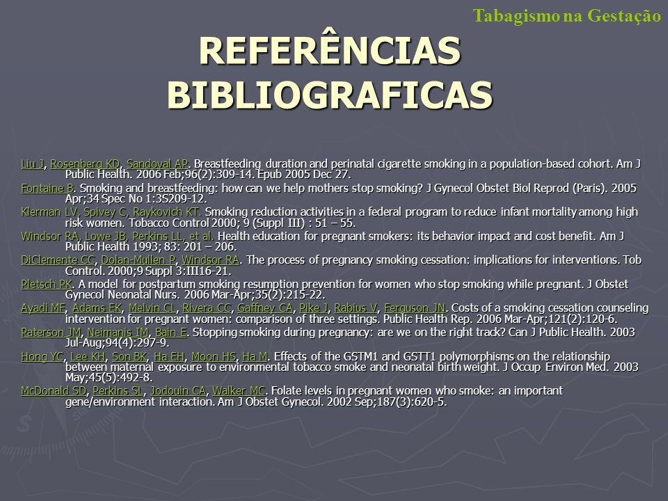 REFERÊNCIAS BIBLIOGRAFICAS