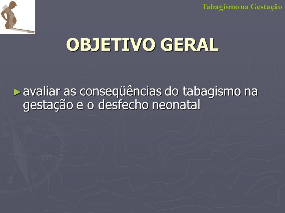 Tabagismo na Gestação OBJETIVO GERAL.
