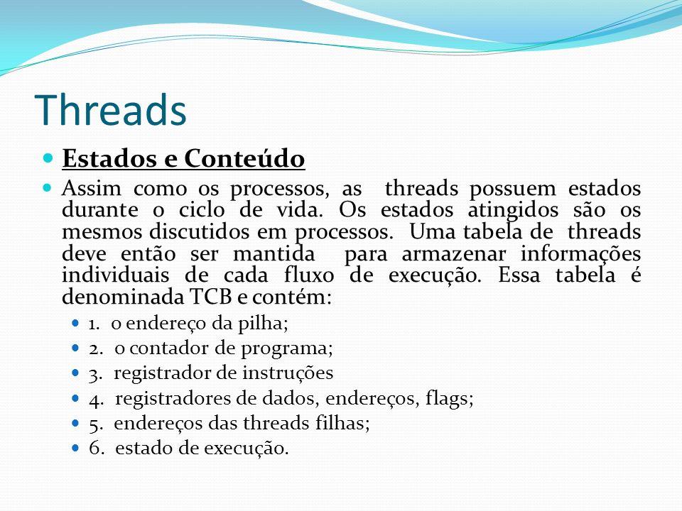 Threads Estados e Conteúdo