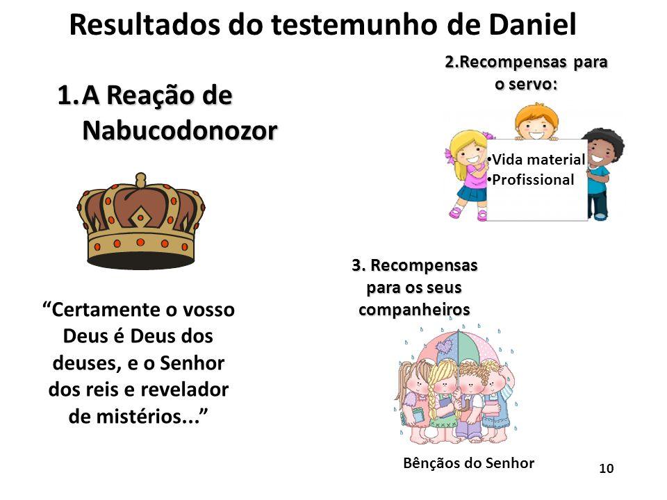 Resultados do testemunho de Daniel