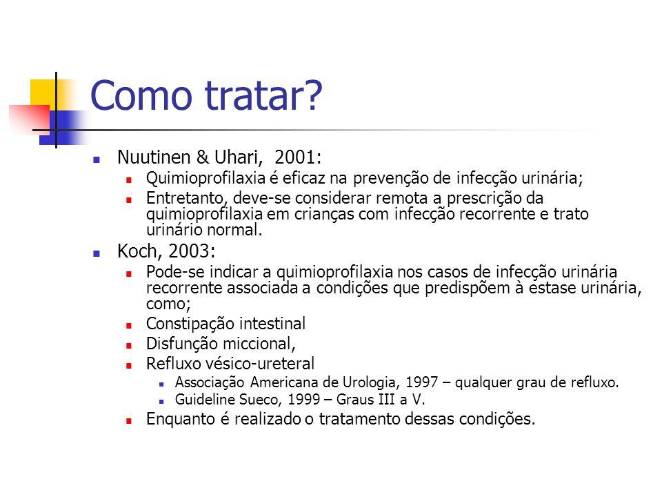 Como tratar Nuutinen & Uhari, 2001: Koch, 2003: