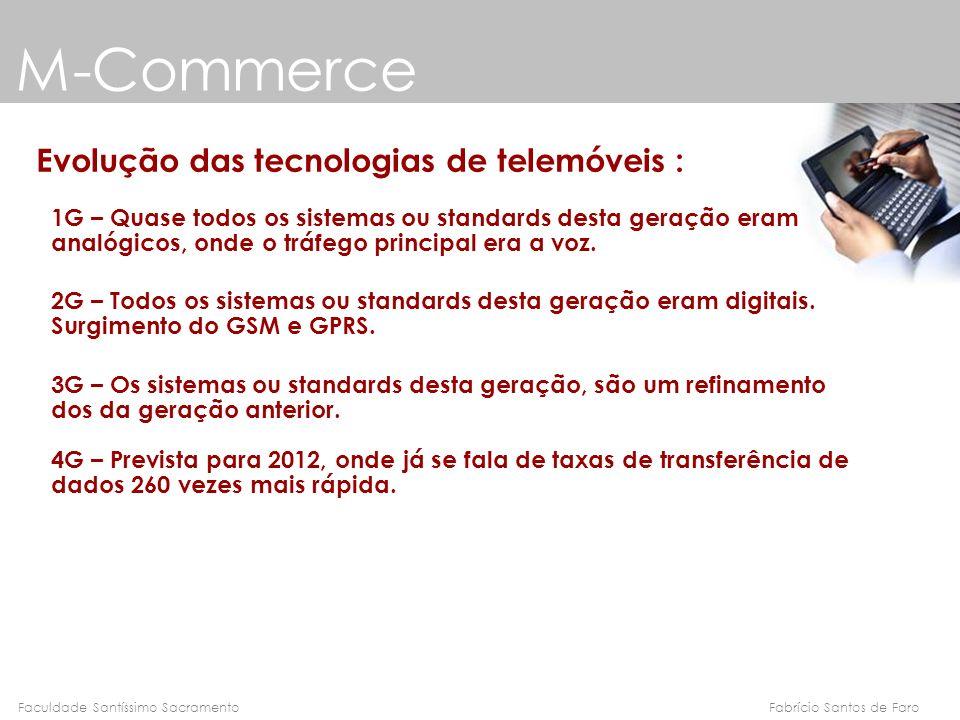 M-Commerce Evolução das tecnologias de telemóveis :