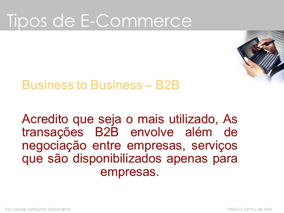 Tipos de E-Commerce Business to Business – B2B