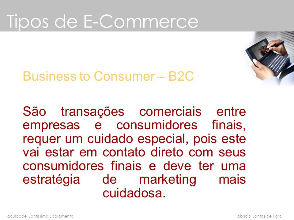 Tipos de E-Commerce Business to Consumer – B2C