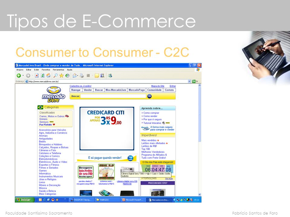 Tipos de E-Commerce Consumer to Consumer - C2C