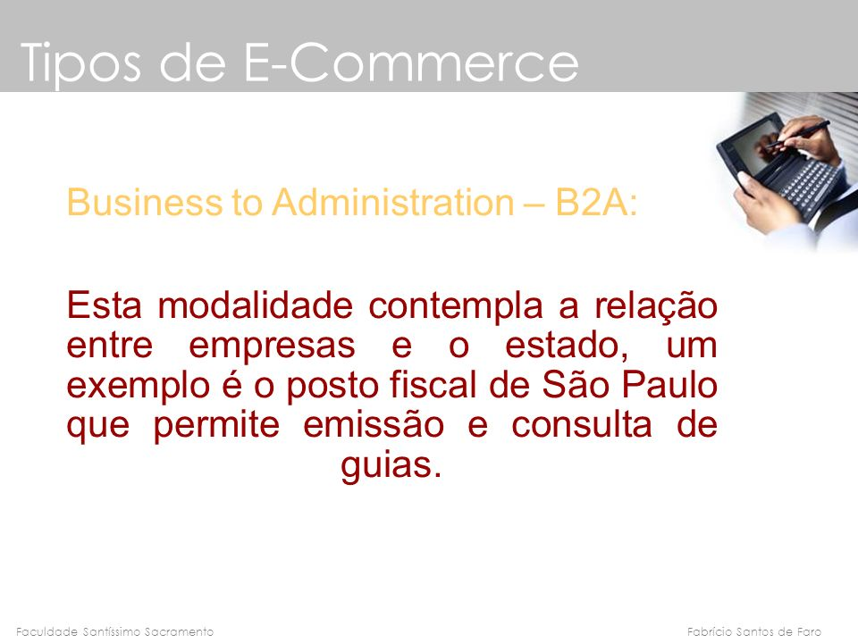 Tipos de E-Commerce Business to Administration – B2A: