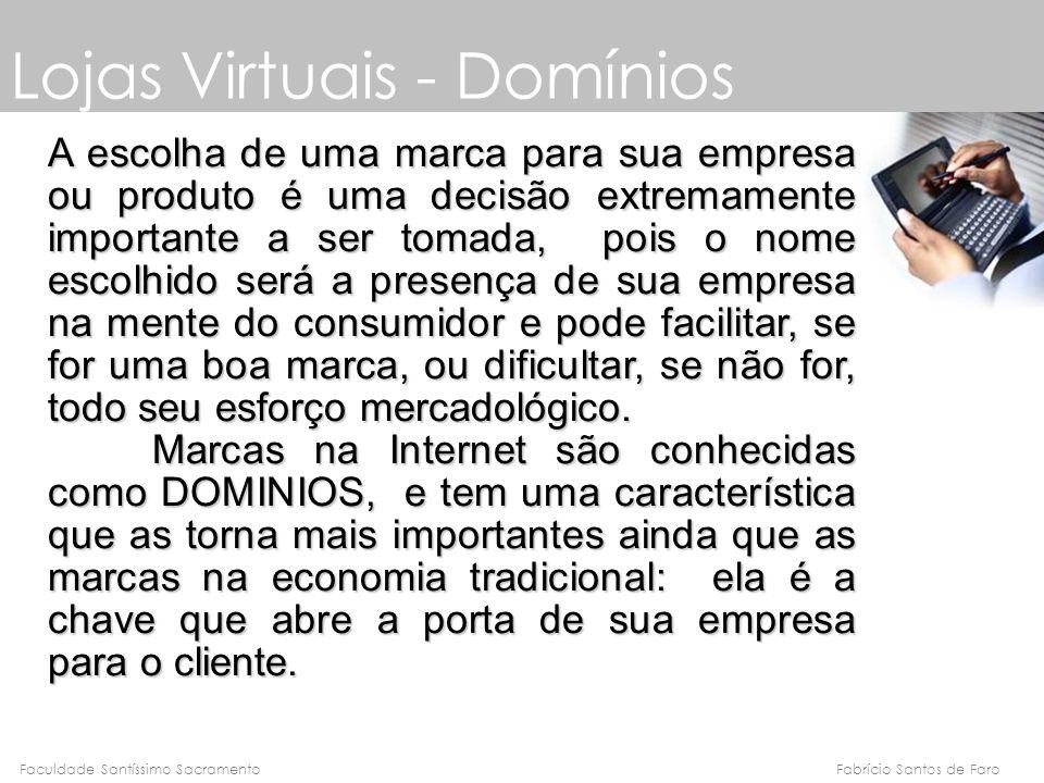 Lojas Virtuais - Domínios