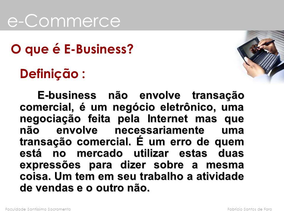 e-Commerce O que é E-Business Definição :