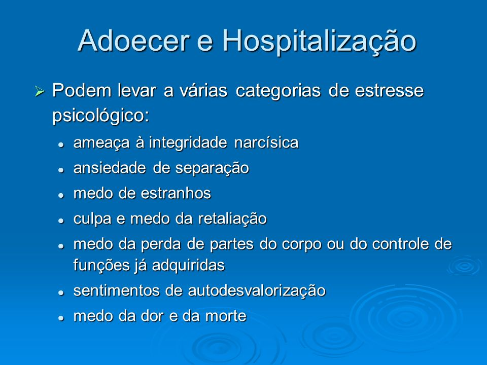 Adoecer e Hospitalização