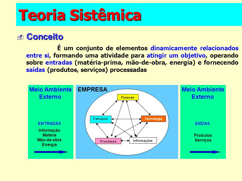 Teoria Sistêmica Conceito
