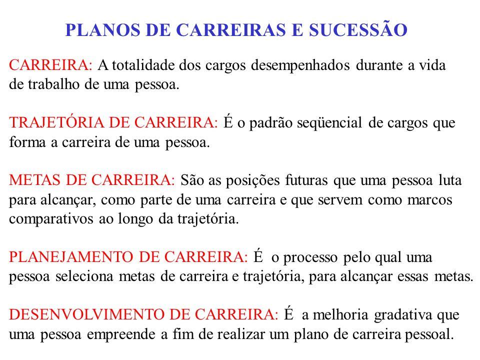 PLANOS DE CARREIRAS E SUCESSÃO