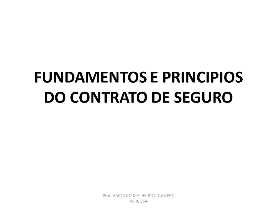 FUNDAMENTOS E PRINCIPIOS DO CONTRATO DE SEGURO