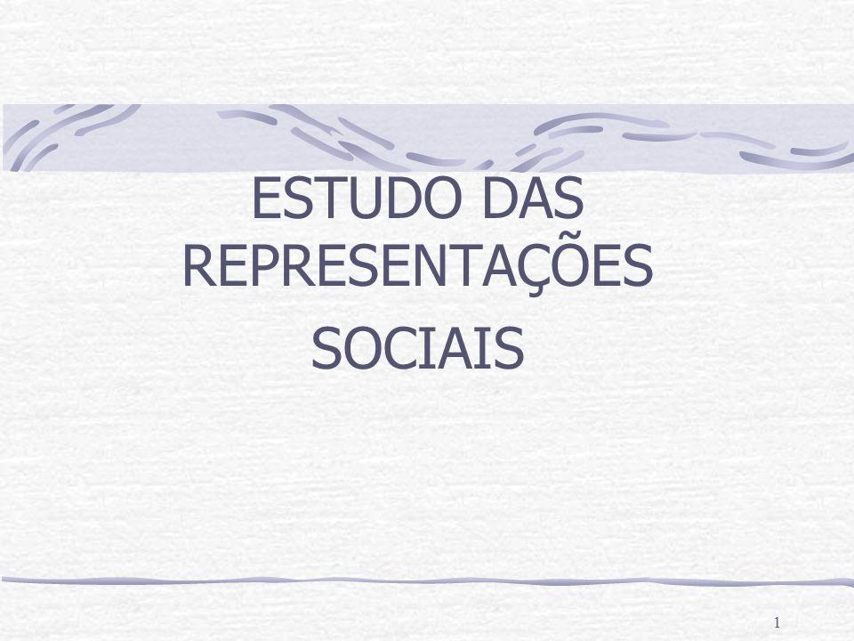 ESTUDO DAS REPRESENTAÇÕES SOCIAIS
