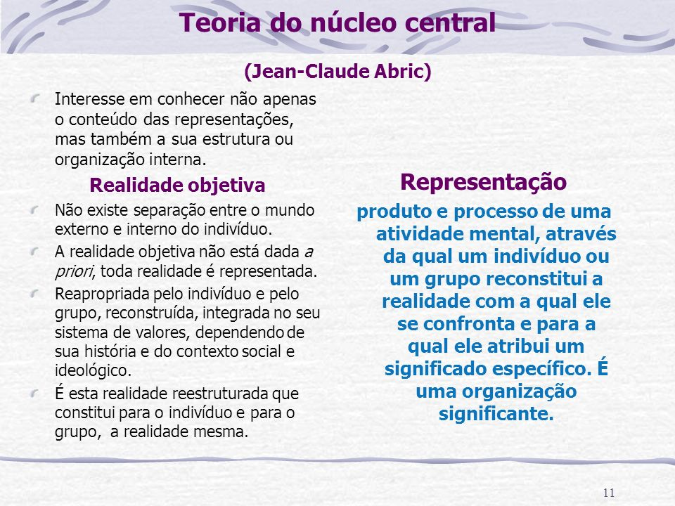 Teoria do núcleo central (Jean-Claude Abric)