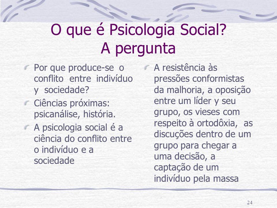 O que é Psicologia Social A pergunta